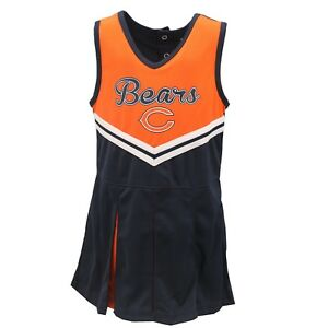 Chicago-Bears-NFL-Infant-Toddler-amp-Youth-Cheerleader-Outfit-with-Bottoms-Set-New