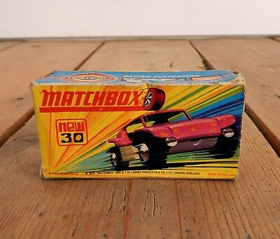Lesney Matchbox Superfast Empty Box 30 Beach Buggy Original Not a Repro