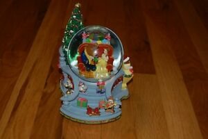 Details About Extremely Rare Disney S Beauty And The Beast Snow Globe Home For Christmas