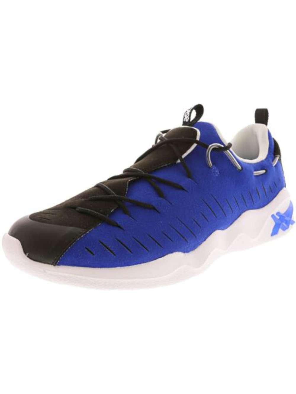 Asics para hombre Mai RB Low Top zapatilla de deporte Con Cordones Correr, Negro Azul Asics, tamaño 10.0