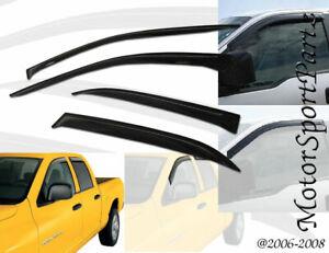 4pcs Out-Channel 2mm Sun Rain Guard Deflector Visor Dodge Caliber 2007-2012