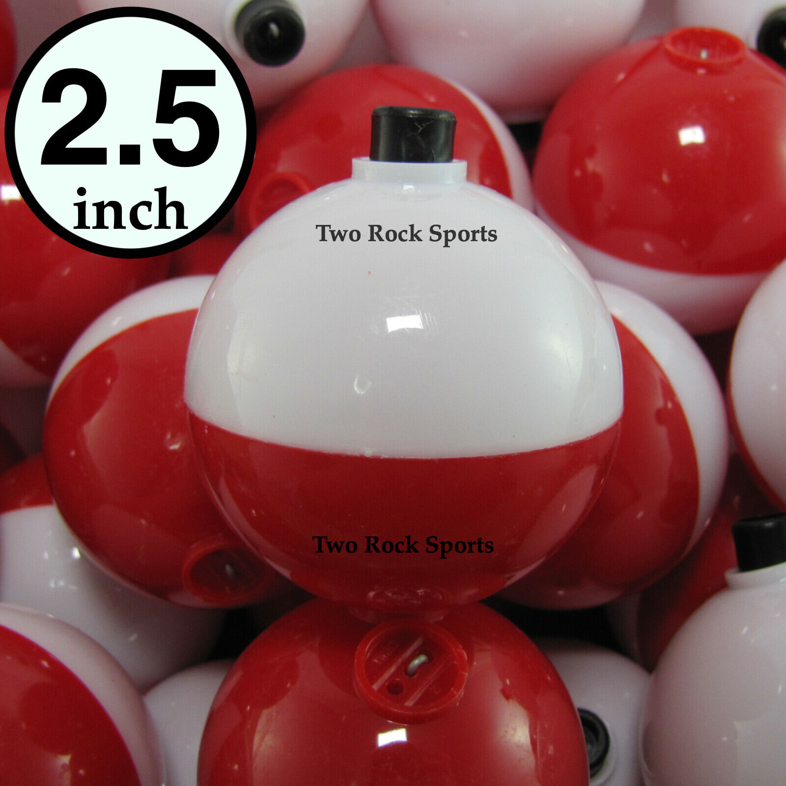 """Fishing Floats Corks tackle RED /& WHITE BOBBERS PEAR 25-PACK 3//4/"""" inch"""