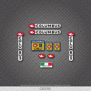 0225 Columbus GILCO MS DESIGN Bicycle Frame and Fork Stickers Decals