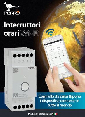 PERRY 1IO IAWF0102 INTERRUTTORE ORARIO ASTRONOMICO WIFI