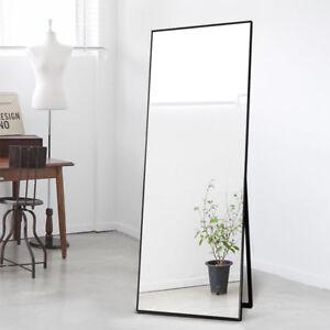 Image Is Loading Full Length Dressing Mirror Alloy Frame Floor Standing