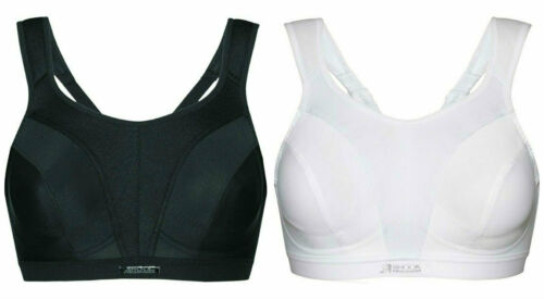 Max Support Sports Bra IN WHITE OR BLACK COLOUR Shock Absorber SN109 D A-13