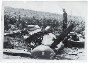 Reste-einer-Spitfire-Orig-Pressephoto-von-1942