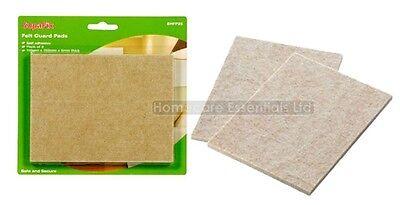 Pack of 2 Self Adhesive Rectangular Furniture Felt Guard Pads 110 x 150mm