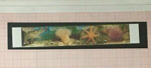 Alderney - 1993 especies en peligro de extinción. vida Marina Setenant Set NHM SG A56-A59