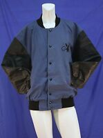 Mens Playboy Golf Varsity Jacket Wool With Leather Sleeves Quilted Lining