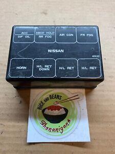 s13 240sx fuse box 89 94 nissan 240sx engine bay relay box cover s13 oem used fuse  89 94 nissan 240sx engine bay relay box