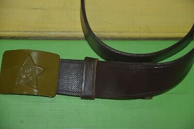 Original genuine ussr russian soviet red army soldier belt military warehouse