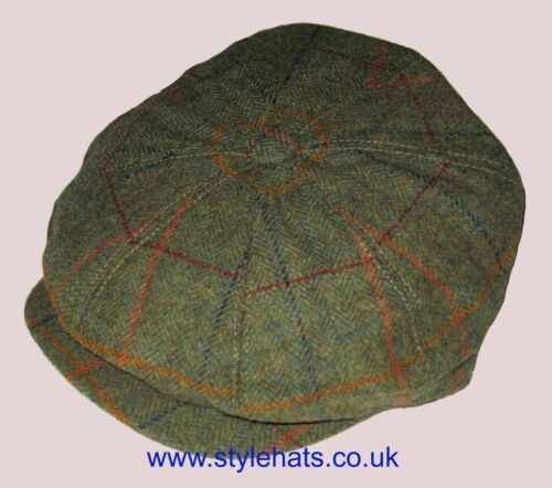 SALE News Boy Baker Boy Hat Tweed Cap by G/&H Eight Panels Hat Sizes M to XL