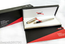 New Mont Blanc Full Silver Ink/Fountain Pen With Golden Clip - Imported