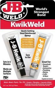 J-b-Weld-8276-Kwik-6-Minutos-Escenario-Acero-Reforzadas-Epoxi-Adhesivo-2nd-P
