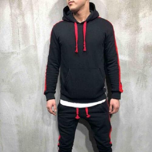 Men Tracksuit Hoodie Sweatshirt Slim Fit Top Sports Gym Pullover Top Coat Jacket