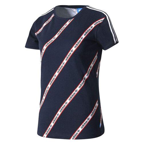 ADIDAS Originals Slim 3s tè donna tempo libero /& Sport Shirt Navy LEGINK bk2099