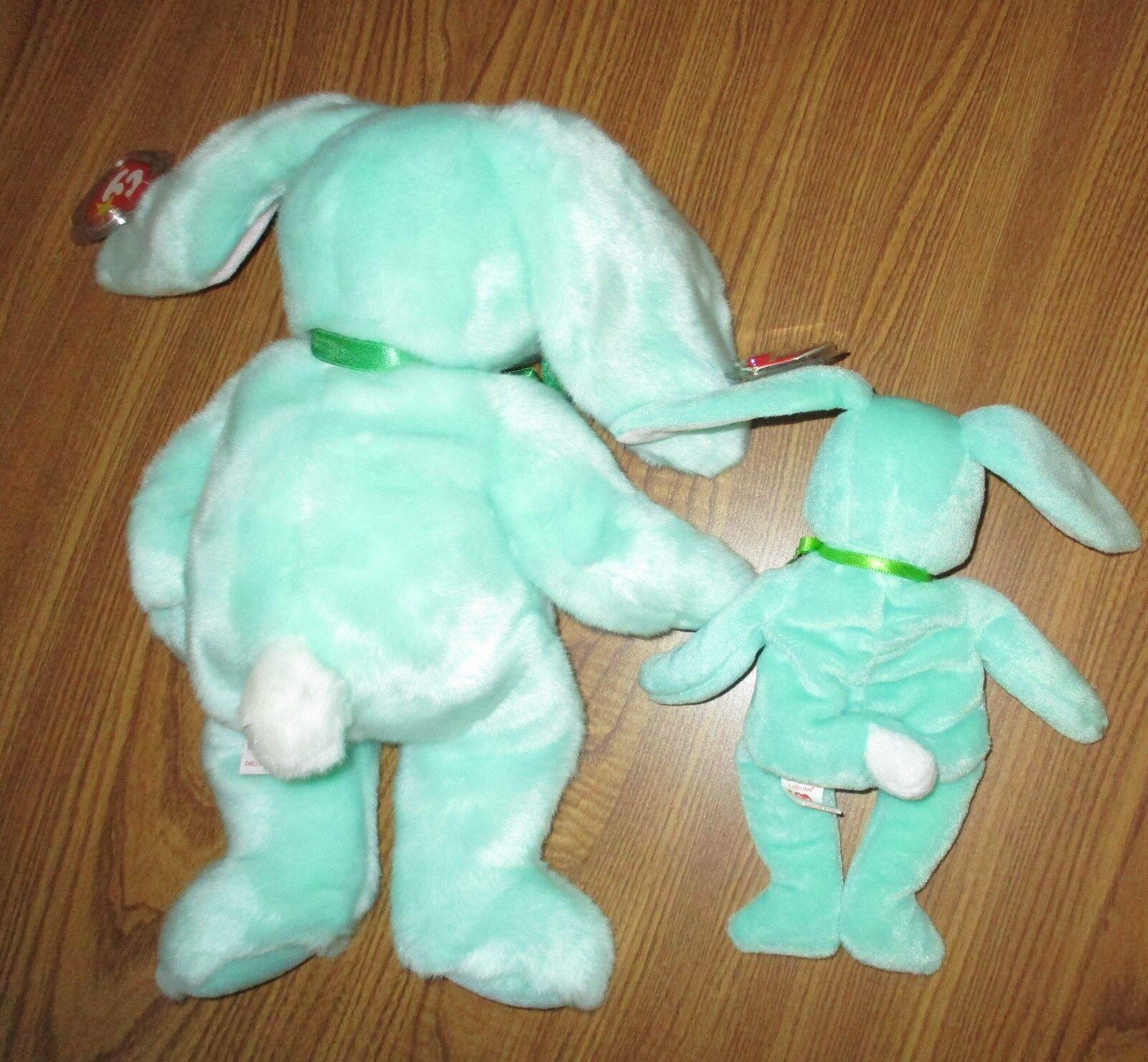 '96 TY Beanie HIPPITY the the the Mint Green Bunny w Errors + Beanie Buddy '98, NWT MINT 59dbc6