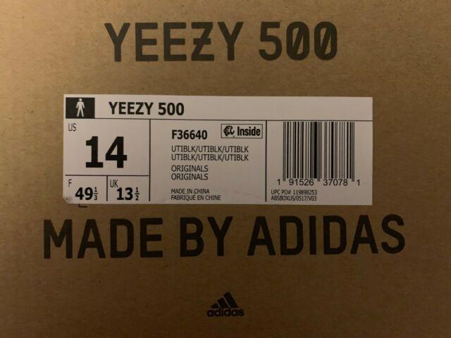 89835fd66738 adidas Yeezy 500 Utility Black Size 14 F36640 for sale online | eBay