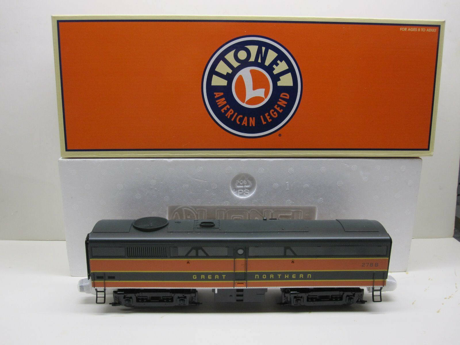 LIONEL 6-38194 FB GREAT NORTHERN NON POWErosso B-UNIT DIESEL AND ORIGINAL BOX