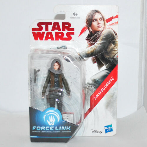 """NEW Hasbro 2017 3.75/"""" Action Figure JYN ERSO JEDHA STAR WARS Force Link"""