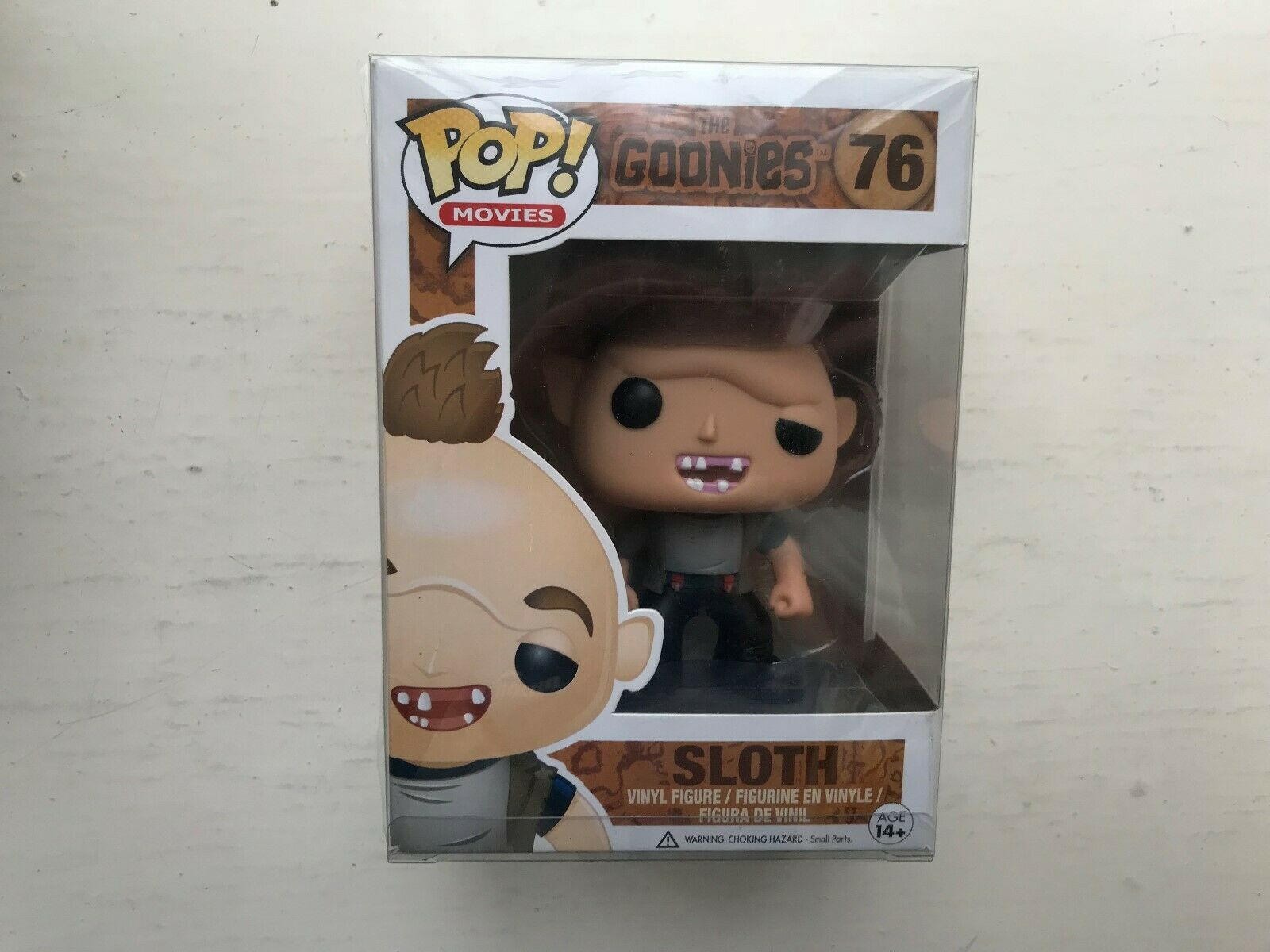 BOXED FUNKO POP VINYL  76 THE GOONIES SLOTH FIGURE MOVIES SERIES RARE VAULTED