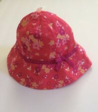 NWT Girls Gymboree Rosy Hat Size 12-24 Months Blue Yellow Flowers Floral