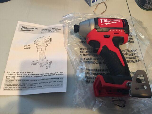 Brand New Milwaukee 18V Model 2750-20 Brushless 1/4 Hex Impact Driver
