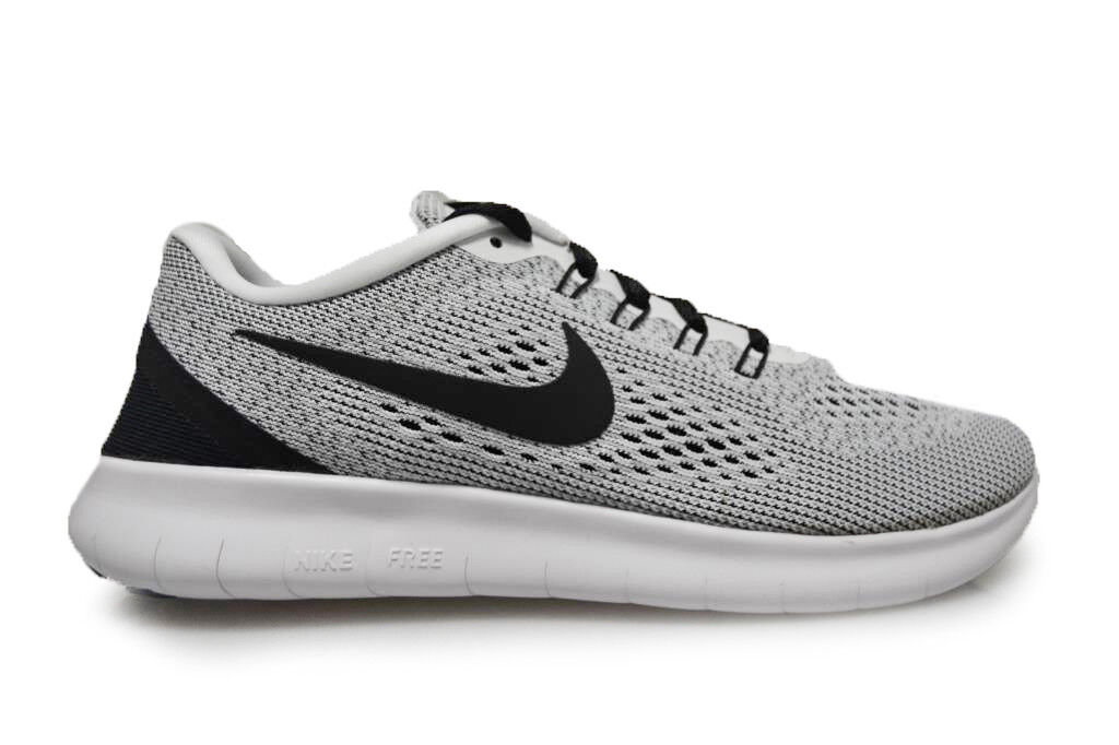 Femme Nike Free RN fonctionnement - 889120 100 - blanc noir Trainers
