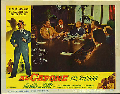 Frugal Al Capone Original Lobby Card Rod Steiger 11x14 1959 Movie Poster Beautiful And Charming 1950-59 Mobs, Gangsters & Criminals
