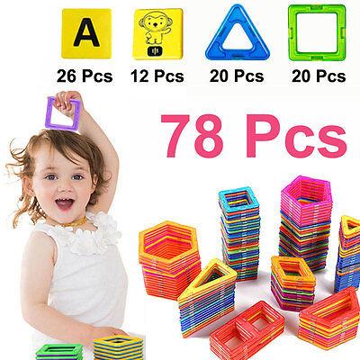 78 PCS Similar Building Sets alphabet animals