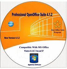 Open Office Suite Word &, Excel, 2017 For Window Vista, 7 &  XP & 10,
