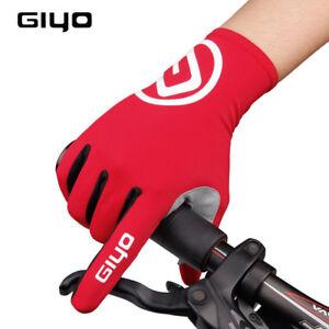 Men/'s Full Finger Mountain Bike Riding Gloves Gel Long Touch Screen