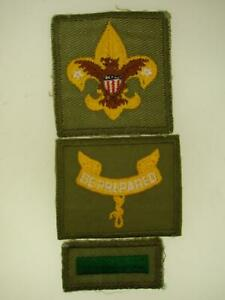 VINTAGE-B-S-OF-A-TWILL-TENDERFOOT-ASST-LEADER-amp-LEAD-PATROL-LEAD-PATCHES