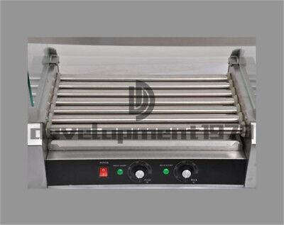 Commercial 7 Roller Hot Dog Grill Cooker Machine 1.4KW 220V