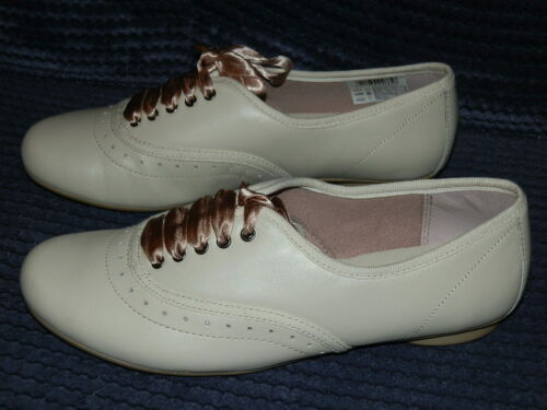 Clarks no énigmes neutre//beige en cuir à lacets chaussures anciennes Filles Chaussures