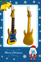 Great Gift Miniature Yellow Stratocaster Electric Guitar Christmas Ornament