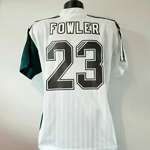 FOWLER 23 Liverpool Shirt - Large - 1995/1996 - Away Adidas Jersey Carlsberg