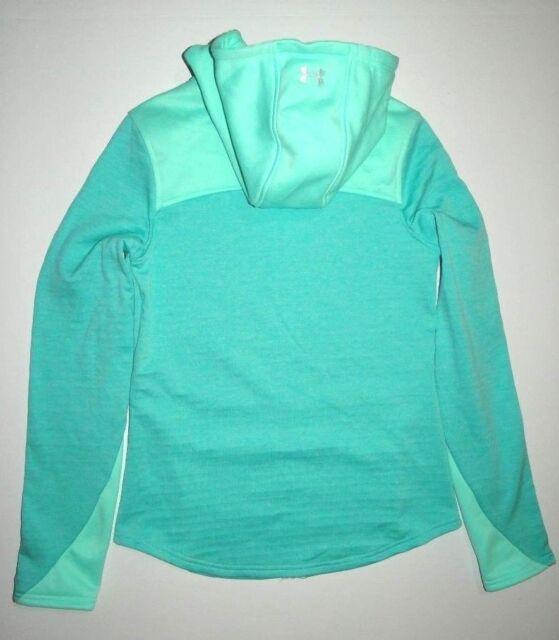 UNDER ARMOUR XL Sportstyle BLUE GREEN Fleece Full Zip Hoodie Jacket 1284501 779
