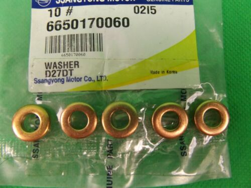 GENUINE SSANGYONG REXTON SUV 2.7L 5CYL TURBO DIESEL INJECTOR WASHER SET 5EA