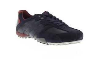 diagonal esperanza crisis  Geox U Serpiente u 8207 e 022 mecf 46L Azul para Hombre De Ante Con  Cordones LOW TOP SNEAKERS Zapatos 7   eBay