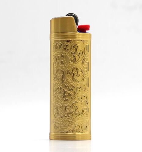 Metal Lighter Case Cover Holder Sleeve Pouches For BIC Full Size Lighter J6 Gift