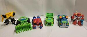 Transformer Lot (6)  Action Figures Trucks Bulldozer Hasboro