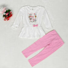 Newborn Baby Kids Girl Floral T-shirt Tops+Pants Outfit Children Clothes Set