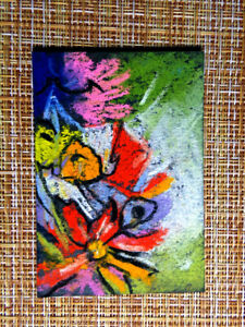 ACEO-original-pastel-painting-outsider-folk-art-brut-010186-abstract-surreal