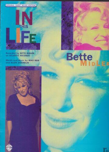 Bette Midler IN THIS LIFE Original Sheet Music