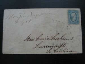 CONFEDERATE STATES very nice cover w/ imperf stamp!