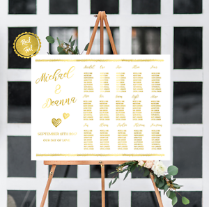 Seating Chart Wedding.Details About Seating Chart Gold Seating Chart Wedding Seating Chart Gold Wedding