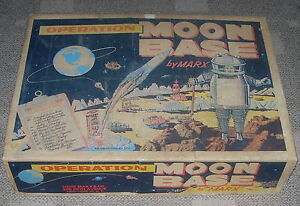 MARX OPERATION MOON BASE 4654 C. 1960'S SPACE TOY PLAY SET ...