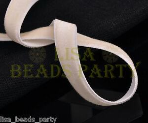 New-10yards-3-8-034-10mm-Velvet-Ribbon-Bows-Wedding-Party-Decoration-Sew-Lt-Apriopt